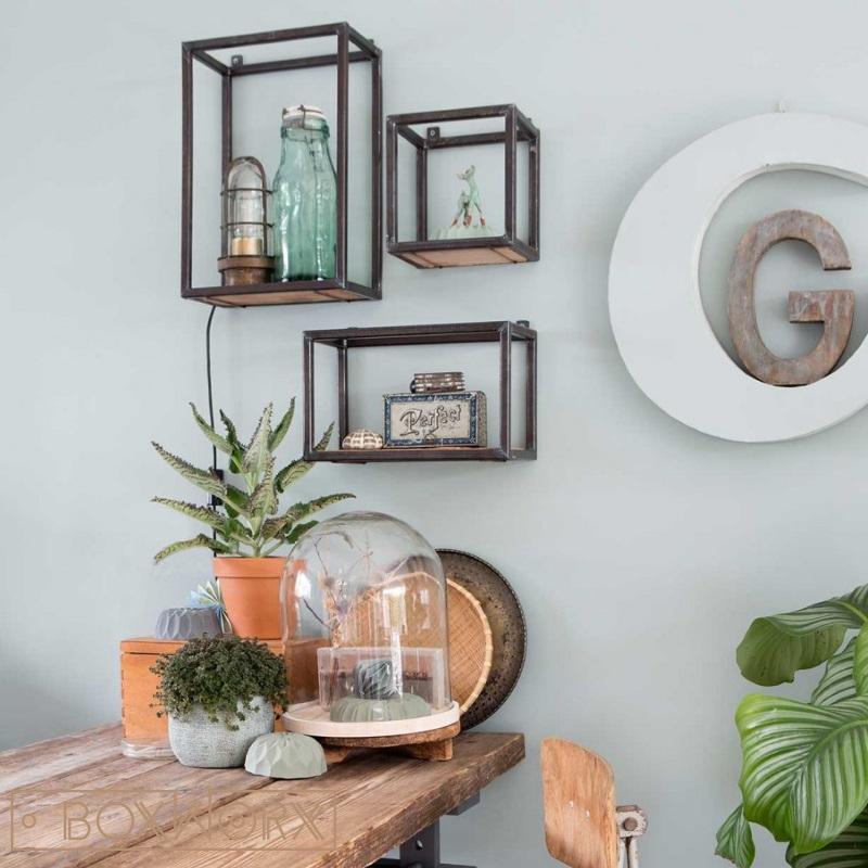 Boxworx meubels wandkastjes woed industrieel oud for Decoratie industrieel