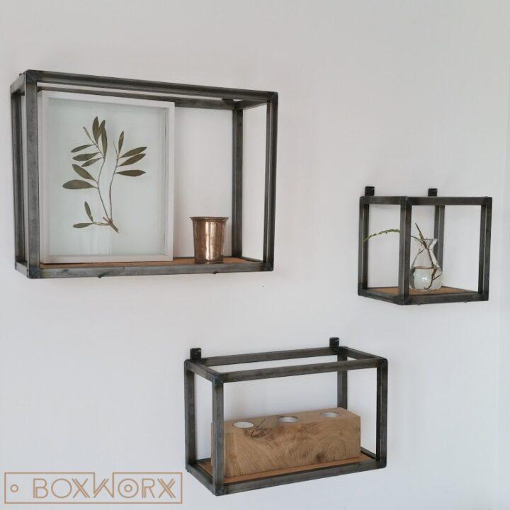 BoxWorx : Meubels : Wandkastjes WOED - industrieel, oud houtBoxWorx