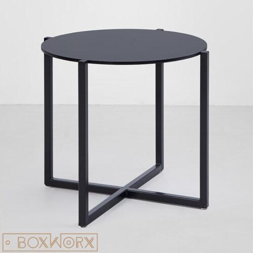 salon-bijzettafel rond zwart staal