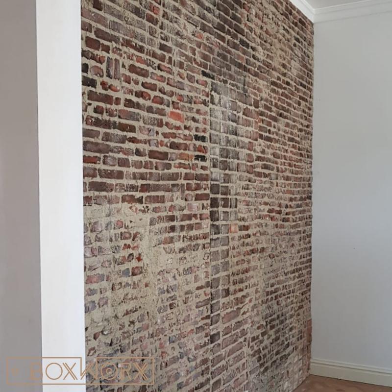 Ongekend Ruwe steenstrip wandafwerking - Old Dutch Brick   BoxWorxBoxWorx VH-05