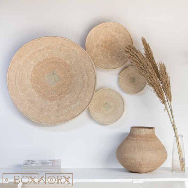 Binga Baskets Blanc Fine weave Boxworx