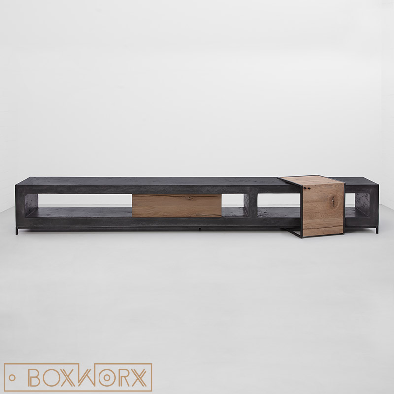 overzettafel met hout