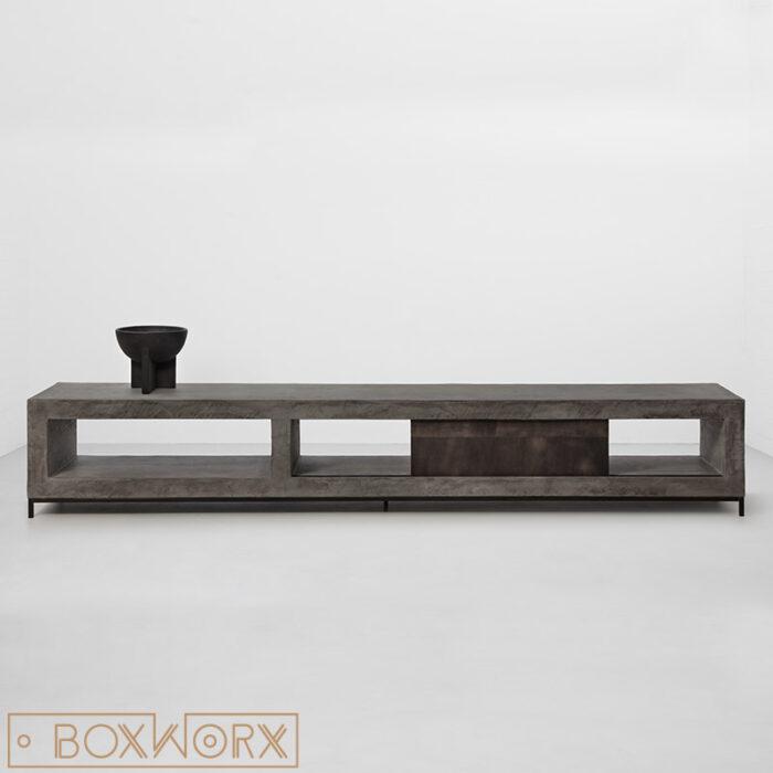 TV meubel rank betonlook